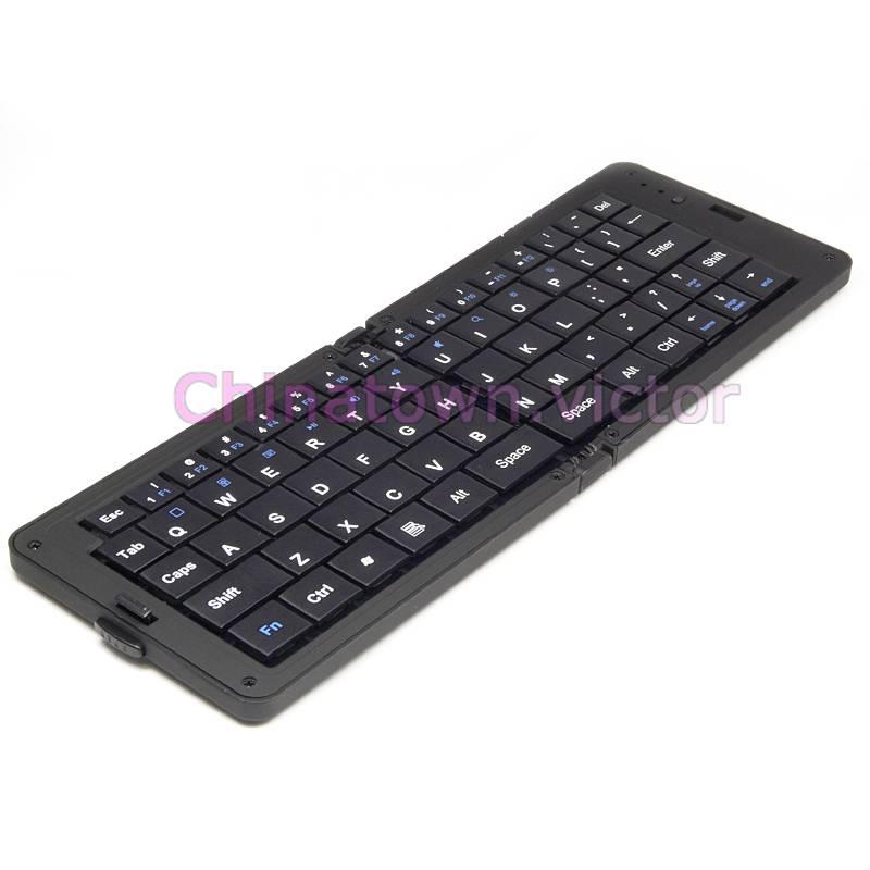 Bluetooth Keyboard Apple Android: Mini Folding Bluetooth Wireless Keyboard For Apple Android Tablet PC Black