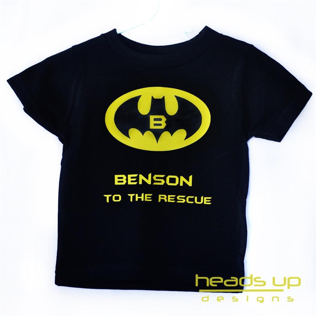 Personalized Batman T Shirt For Boy Superhero Baby