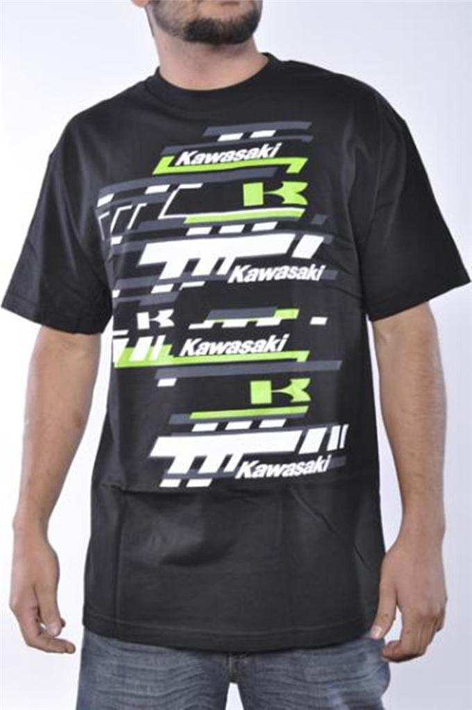 kawasaki mens motocross monster atv black racing graphic tee shirt official ebay. Black Bedroom Furniture Sets. Home Design Ideas