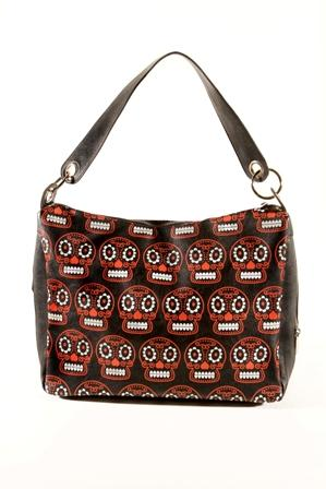 Folter-Skulls-Like-Candy-Bag-Handbag-Rockabilly-Psychobilly-Goth-Punk-Emo-Metal