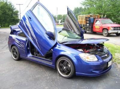 Chevy cobalt 05 up 2 4d bolt on lambo vertical doors kit for 05 chevy cobalt 4 door
