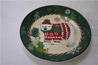 Certified international christmas critters canape plates for Canape insurance