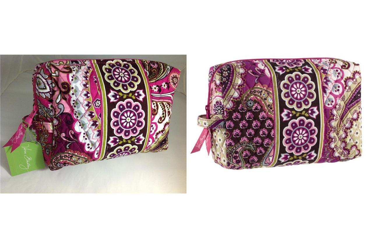 vera bradley berry paisley large cosmetic bag ebay