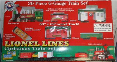 Lionel 36piece ggauge christmas train set 9625