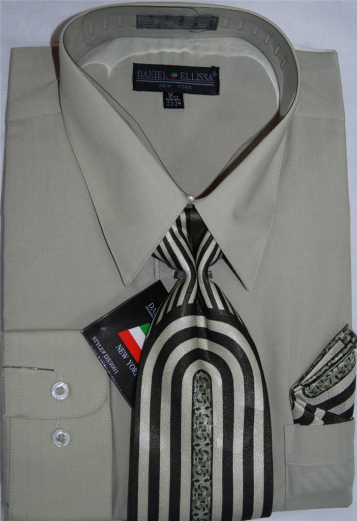 Daniel Ellissa Converible Cuff Dress Shirt And Tie Set