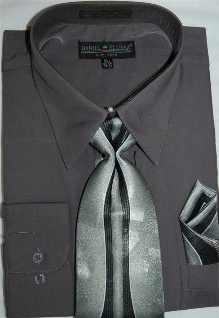 Daniel ellissa converible cuff dress shirt and tie set for Daniel ellissa men s dress shirts