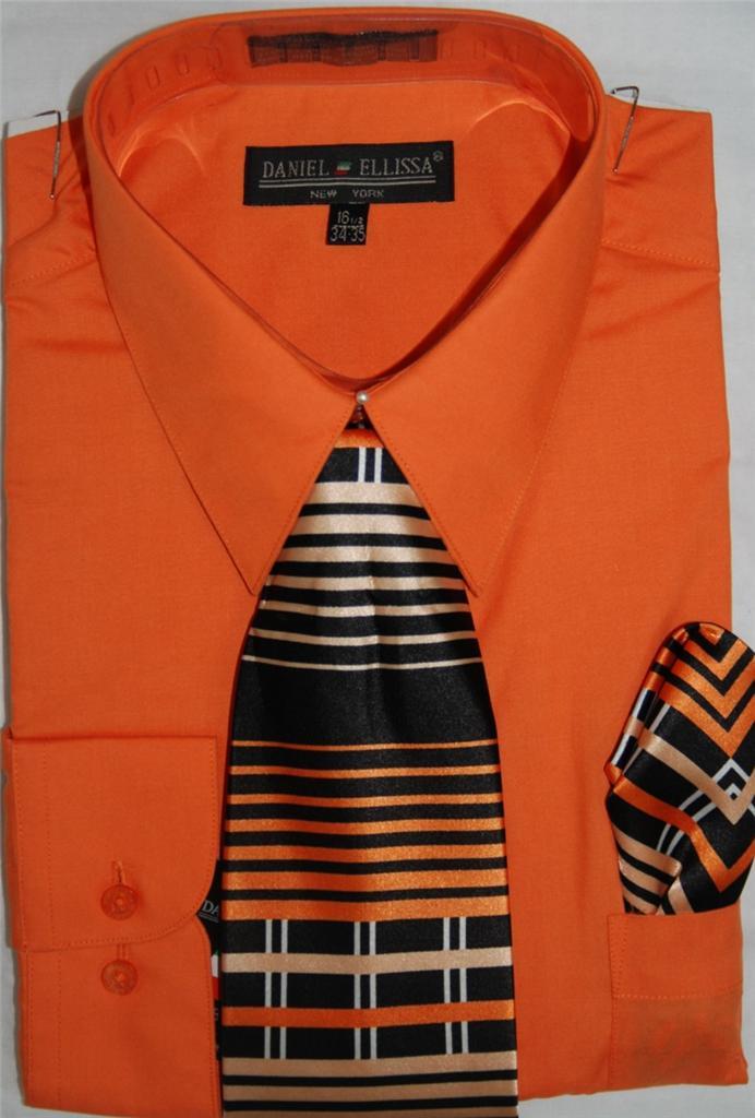 Daniel ellissa convertible cuff dress shirt and tie set for Daniel ellissa men s dress shirts