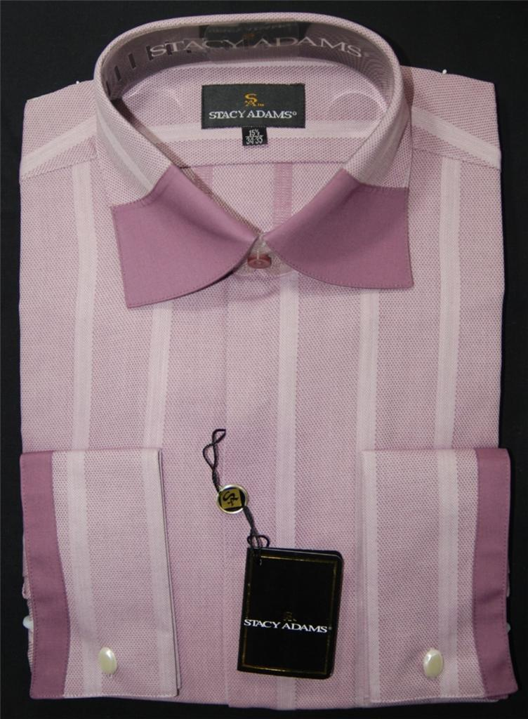 Stacy adams rasberry french cuff dress shirt style sa3615 for Dress shirt french cuffs