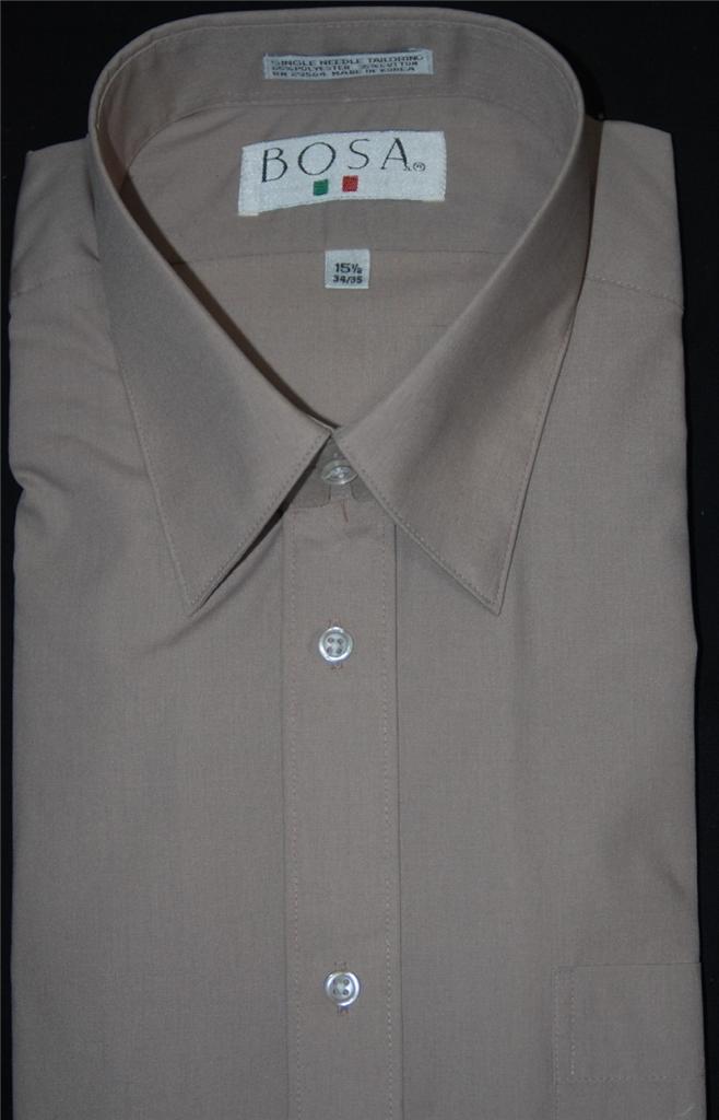 men 39 s bosa regular cuff straight collar dress shirt