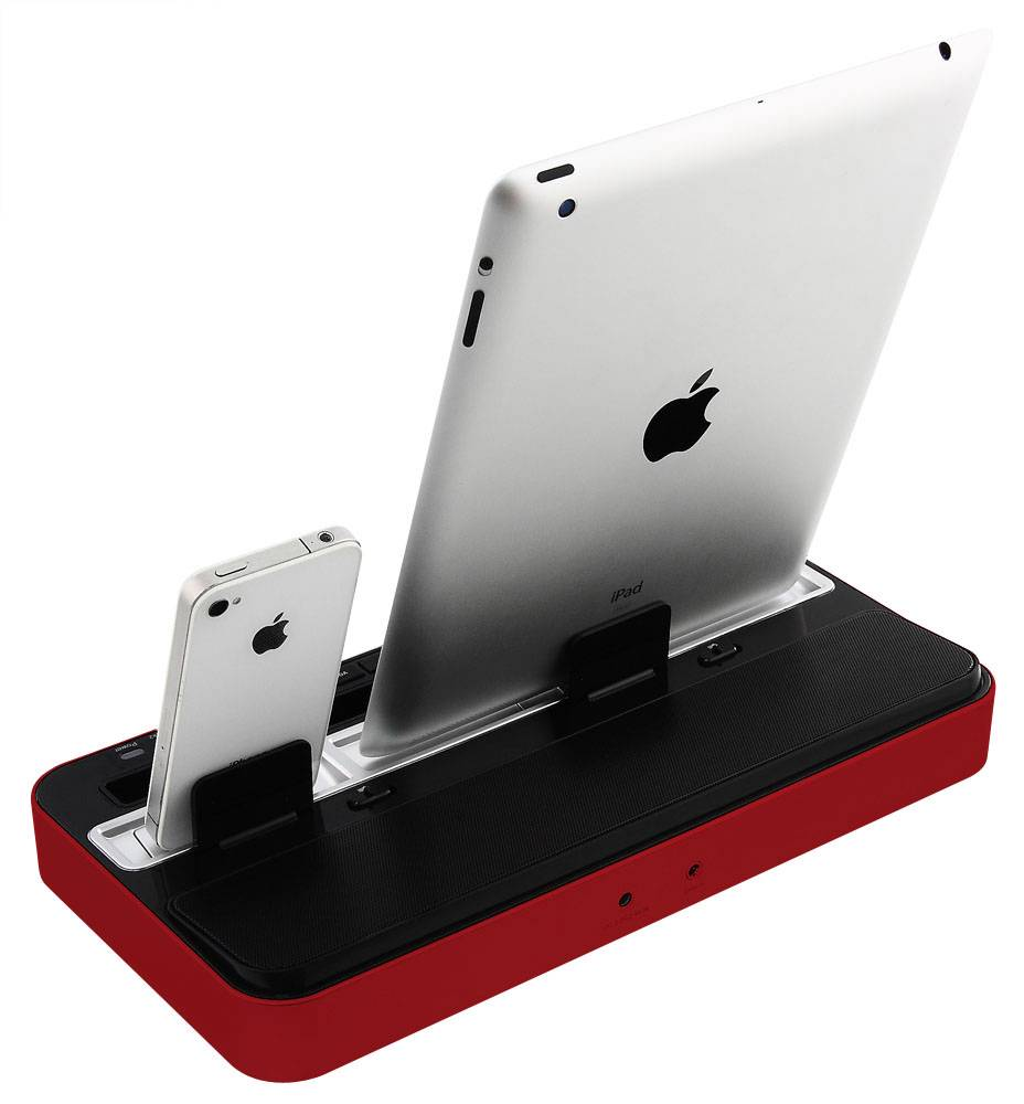 new charging sound dock for ipad air ipad mini iphone. Black Bedroom Furniture Sets. Home Design Ideas