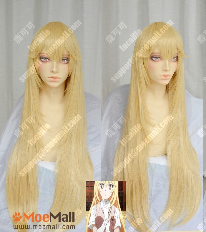Toaru-Kagaku-no-Railgun-Shokuhou-Misaki-90cm-Blonde-Lolita-Cosplay-Party-Wig