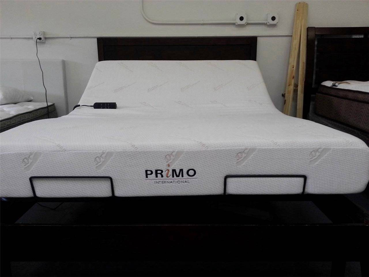 Primo adjustable beds and memory foam mattress electric bed split king size ebay Memory foam mattress king size sale