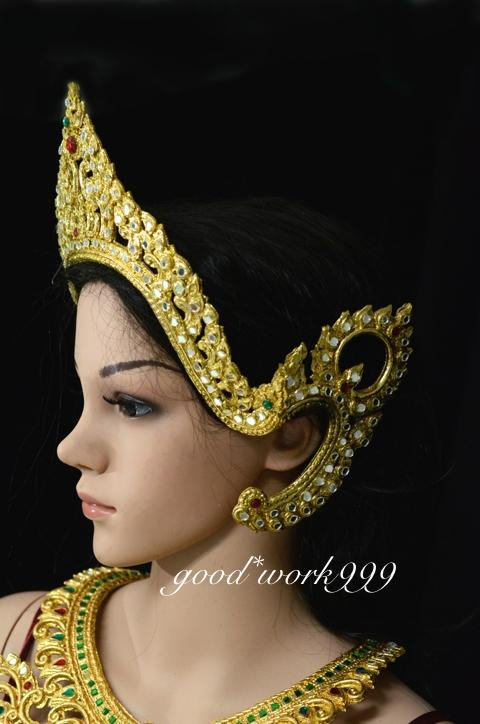 Thai Dance Ramthai Headdress Tiara Head Costume Theater