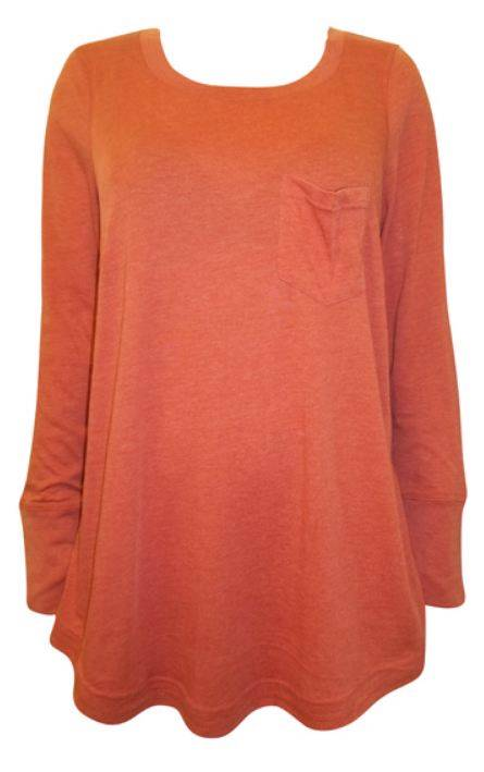 EX-Ann-Harvey-Rust-Longline-Cotton-Top-Tunic-T-Shirt-Plus-Size-14-16-18-20-22-24