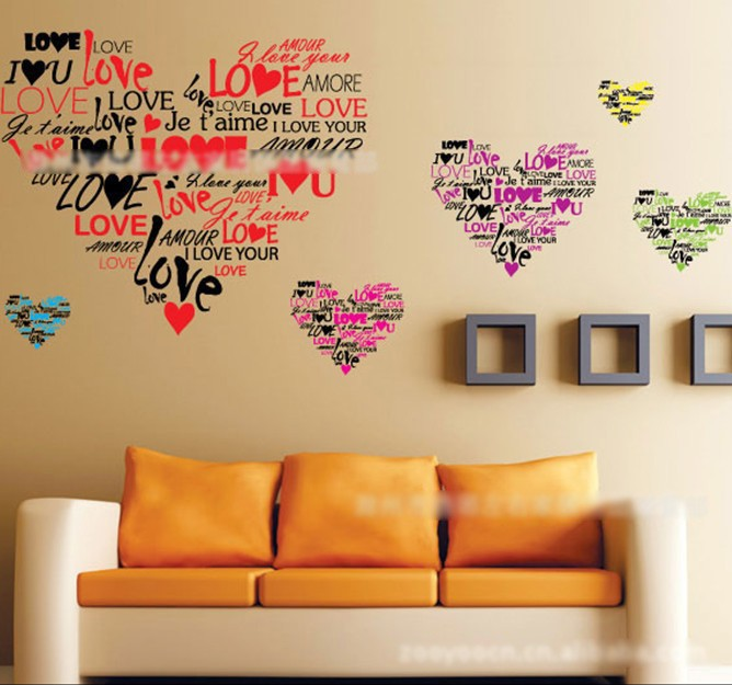 Au Seller Dandelion LOVE Tree Bird Quote Removable Wall Sticker - Wall decals love