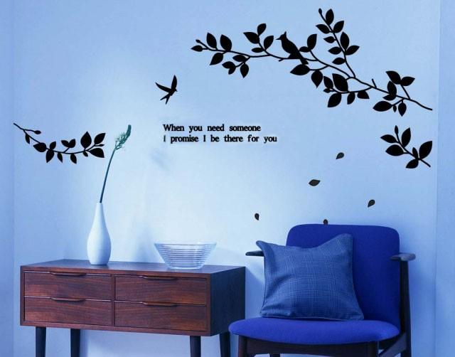 Tree Wall Stickers Australia Part - 17: Au-Seller-Dandelion-LOVE-Tree-Bird-Quote-Removable-
