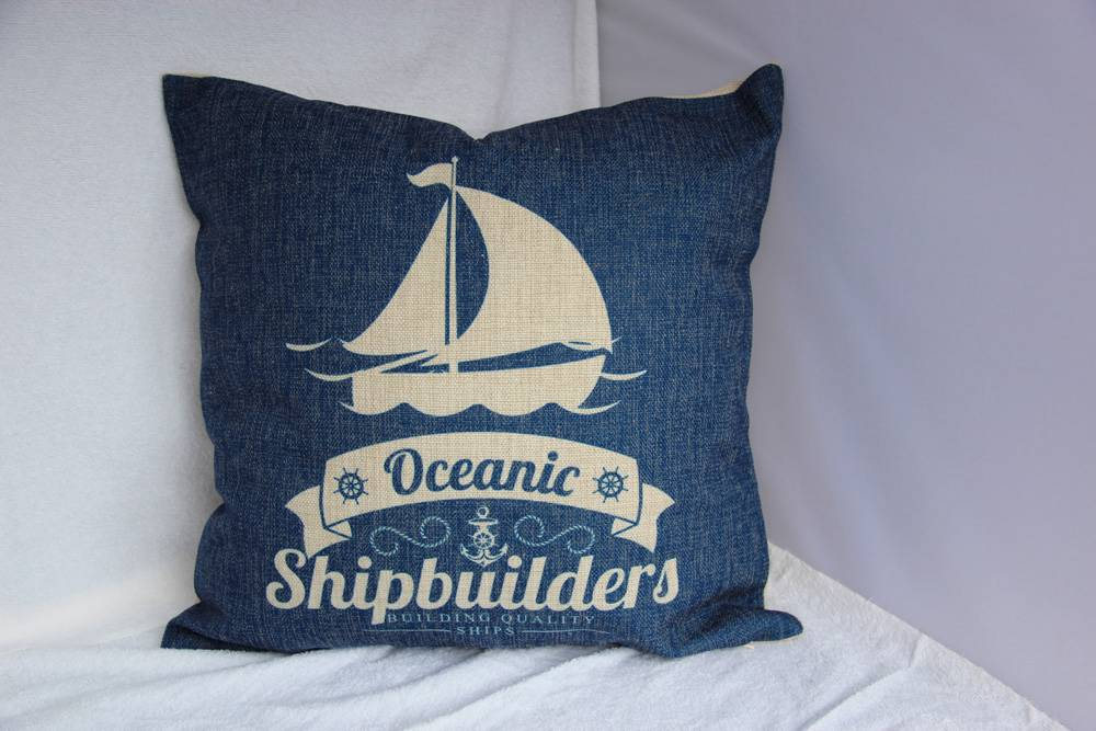 Au seller land sea shipbuilders ocean heavy duty cotton for Au maison cushion