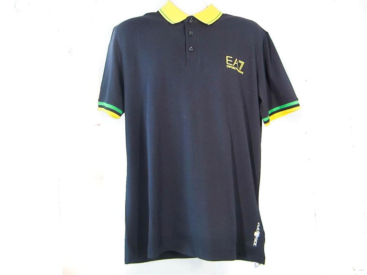Ea7 Emporio Armani Train Calcetto Polo Designer T Shirts