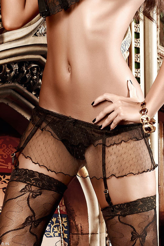 Стринги мини юбка чулки 4 фотография