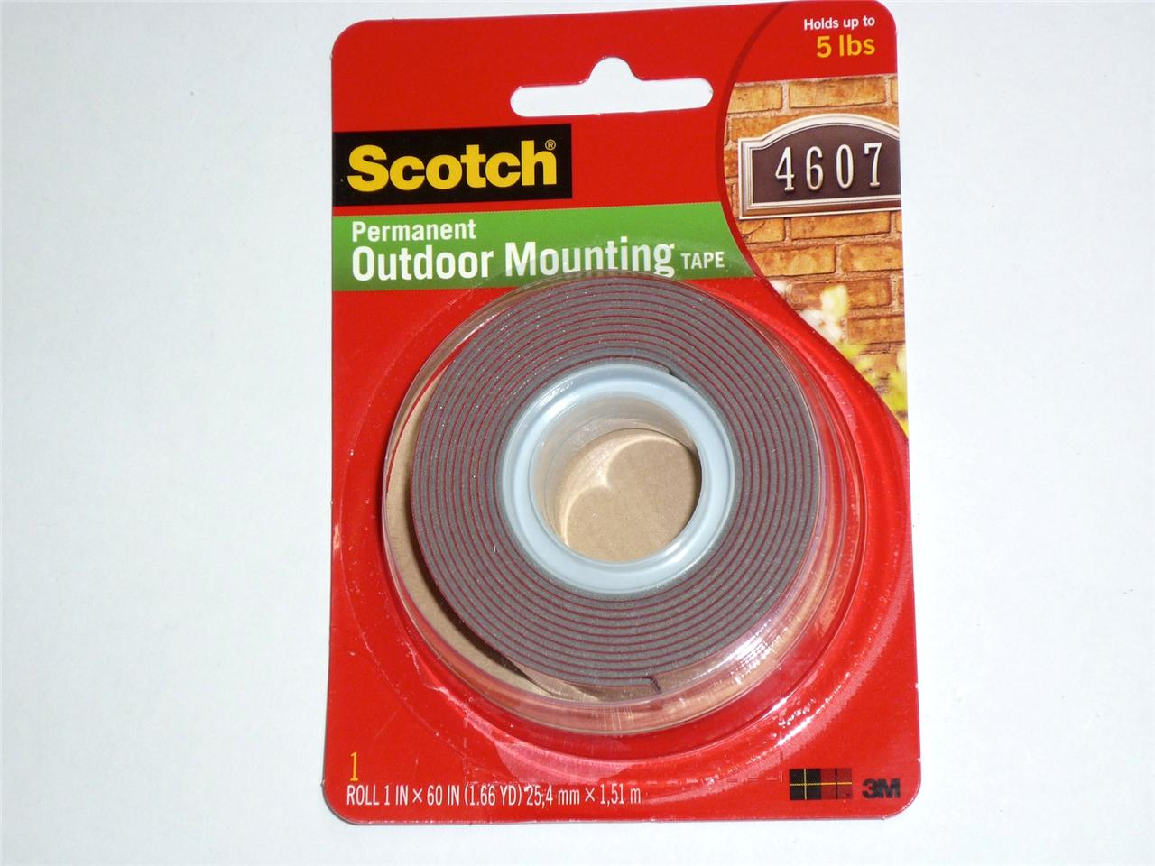 3m Scotch Permanent Outdoor Mounting Tape 25 4mmx1 51m Hold 2 3kg Cat 4011