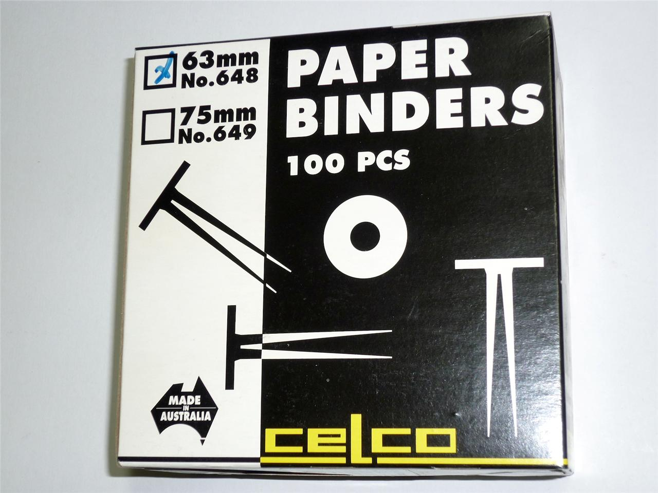 Celco-Paper-Binders-No-648-63mm-box100pcs-silver-metal-for-document-file-binding