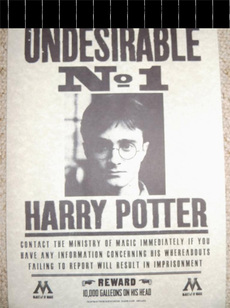 This is a photo of Divine Harry Potter Wanted Poster Printable