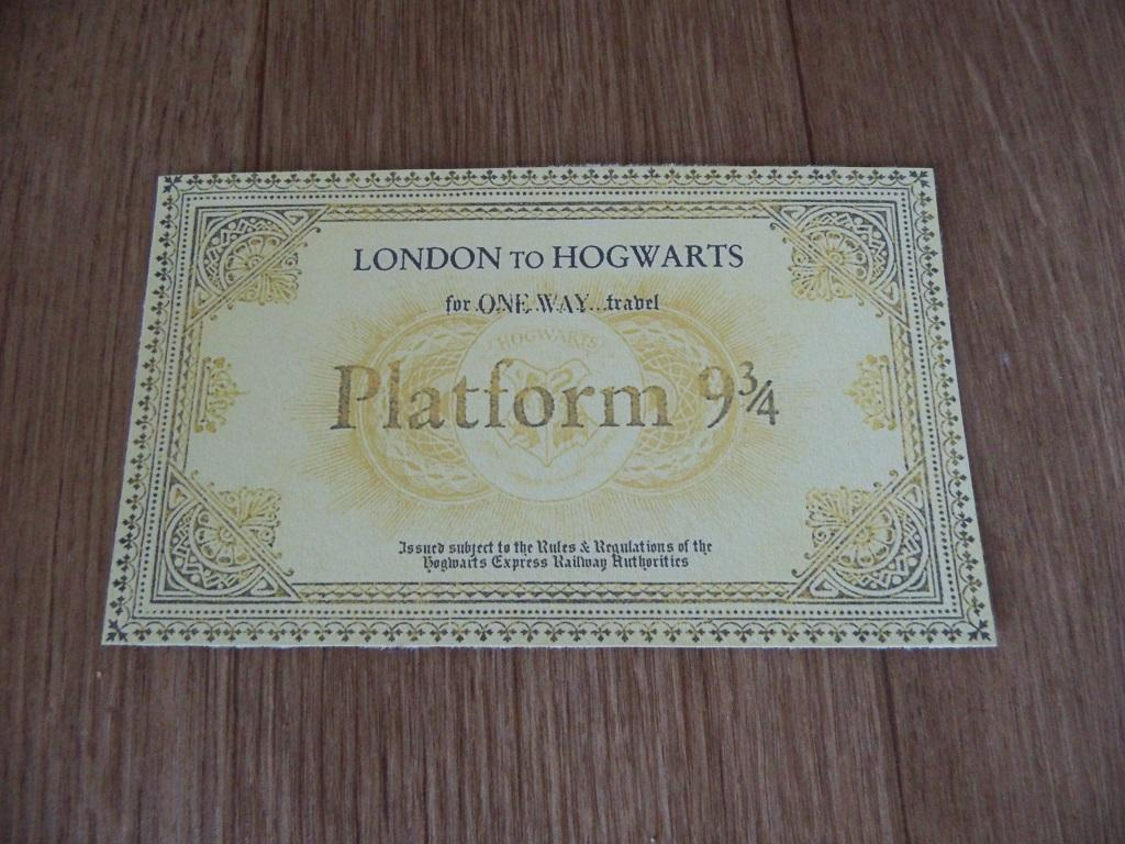 Hogwarts Express Train Ticket From Harry Potter - Replica Gift