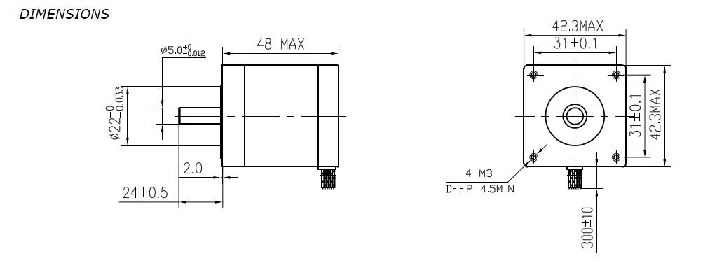 3D PRINTER DIY 60PCS Nema17 2.5A 4800g.cm STEPPER MOTOR