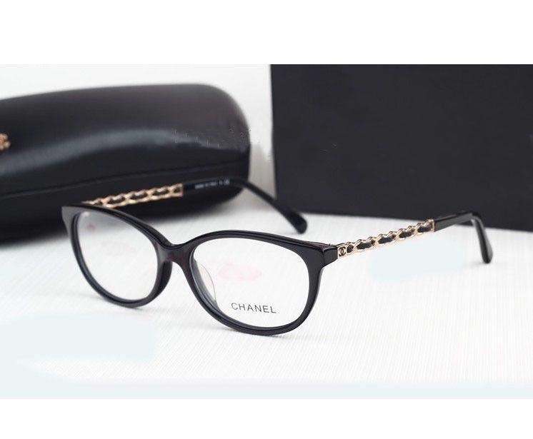 Chanel Ladies Eyeglass Frames : NEW Womens Black Full Rim Eyeglass Frames CH3221 CH Chanel ...