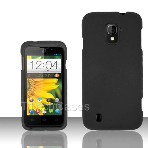BLACK-HARD-MATTE-COVER-CASE-FOR-ZTE-MAJESTY-Z796C-STRAIGHT-TALK-CELL