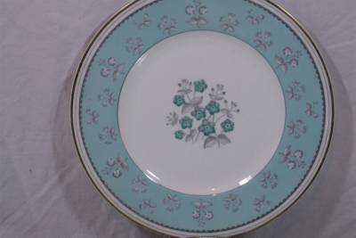 wedgwood pimpernel w3760 dinner plates blue green turquoise shipping