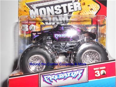 2012 Hot Wheels Monster Jam Predator Truck Topps Trading Card 1 64