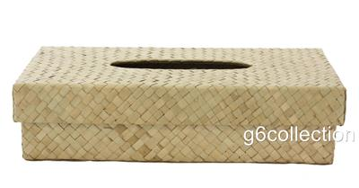 Pandan Woven Tissue Napkin Box Cover Holder Rectangle Hand ...