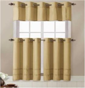 addie kitchen curtain with grommet 3 one valance 2