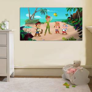 Jake And The Neverland Pirates Disney Canvas Print Home Wall Decor Art Peter Pan Ebay