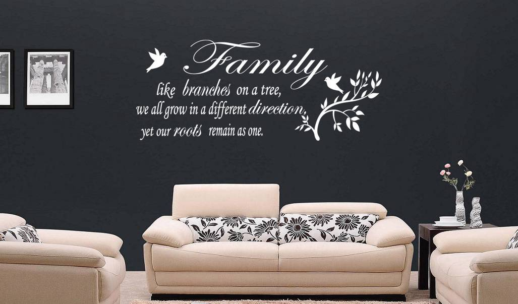 FAMILY LIKE BRANCHES Quote Decal Vinyl WALL STICKER Art