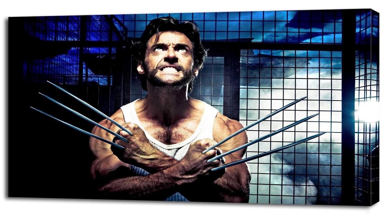 4 Sizes X Men Wolverine Canvas Print Home Wall Decor Movie
