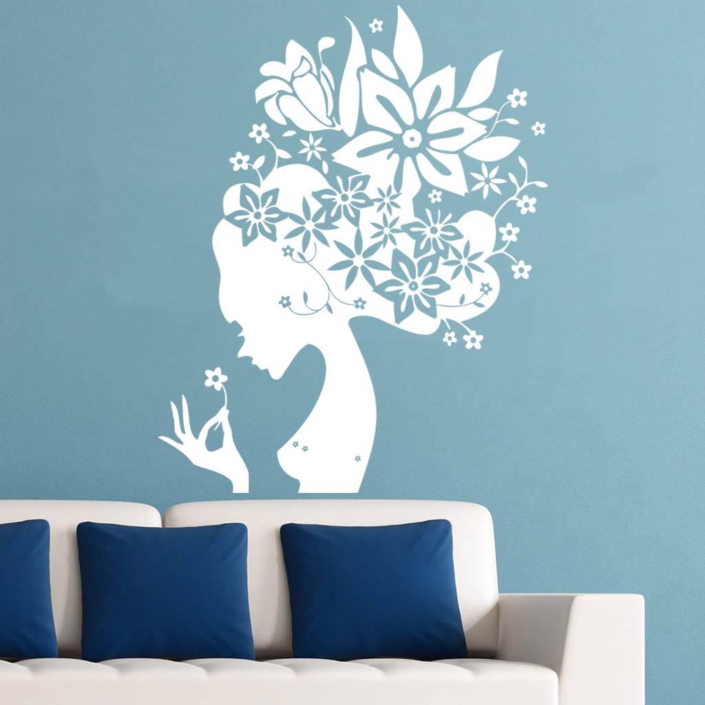 Трафареты цветов для стен фото