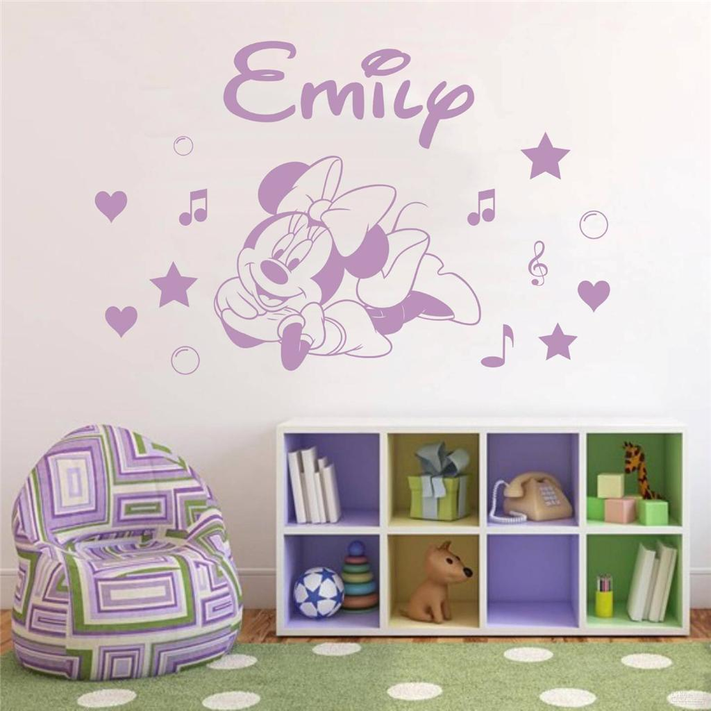 Minnie Mouse Personalized Decal Wall Sticker Art Home