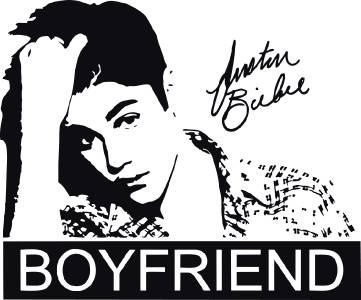 Justin bieber boyfriend quote decal wall sticker art decor silhouette