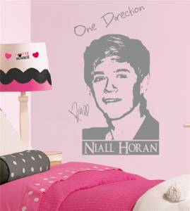 niall horan one direction decal wall sticker art decor silhouette girls st023 ebay. Black Bedroom Furniture Sets. Home Design Ideas