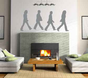 THE BEATLES ABBEY ROAD Decal WALL STICKER Art Home Decor John