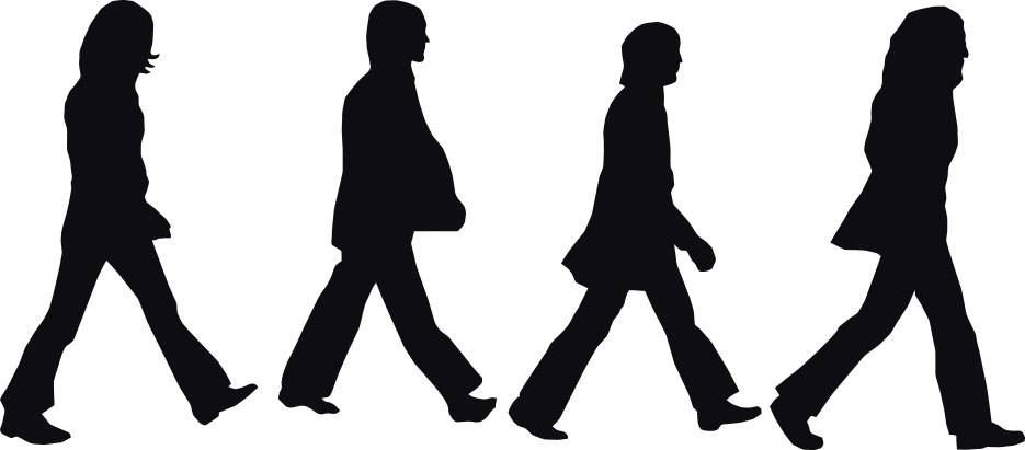 the beatles abbey road decal wall sticker art home decor