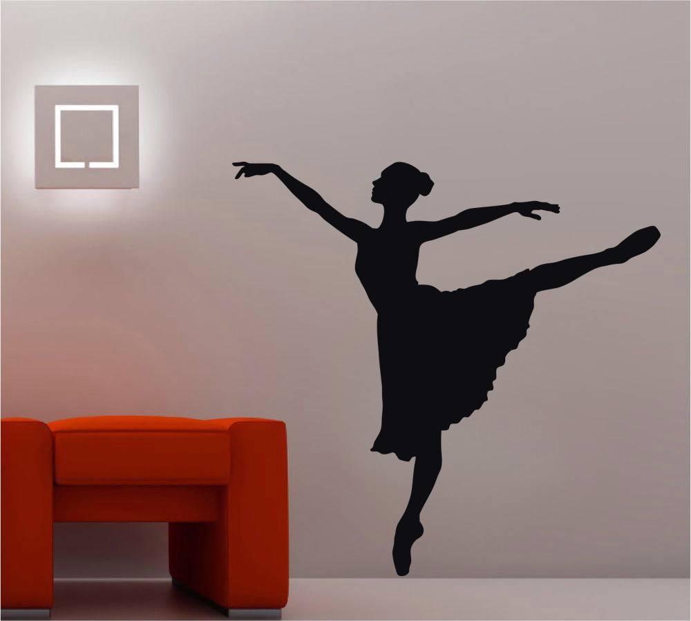 Ballerina Ballet Dancer Decal Wall Sticker Art Home Decor