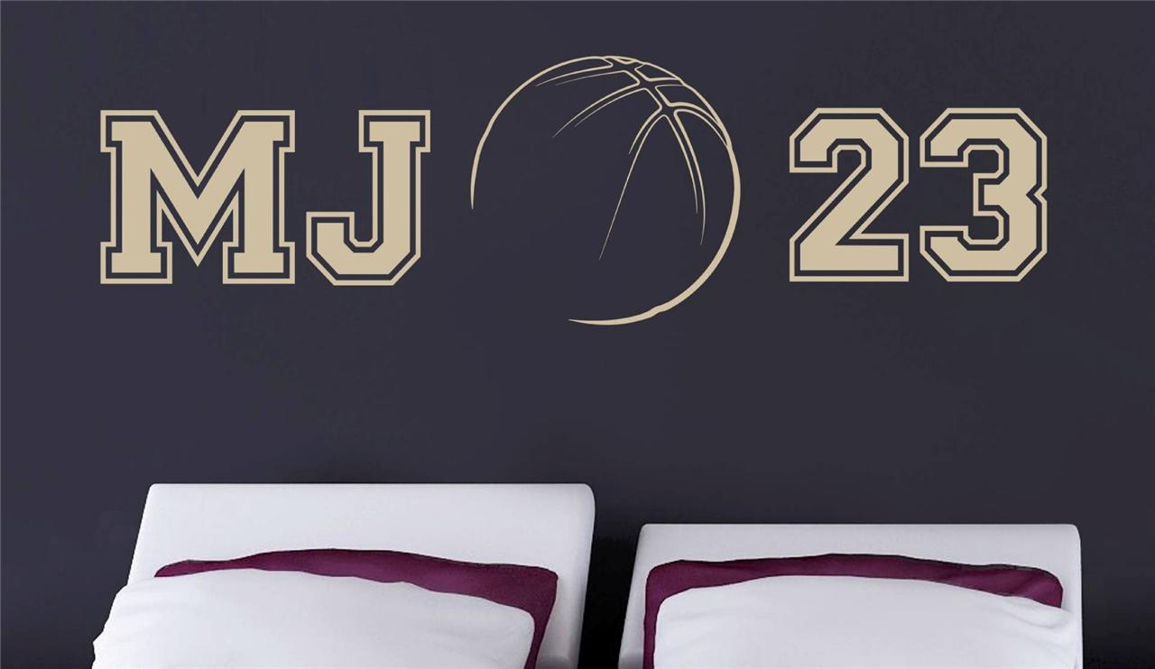 Wall decals michael jordan color the walls of your house wall decals michael jordan details about mj 23 michael jordan decal wall sticker art home amipublicfo Choice Image