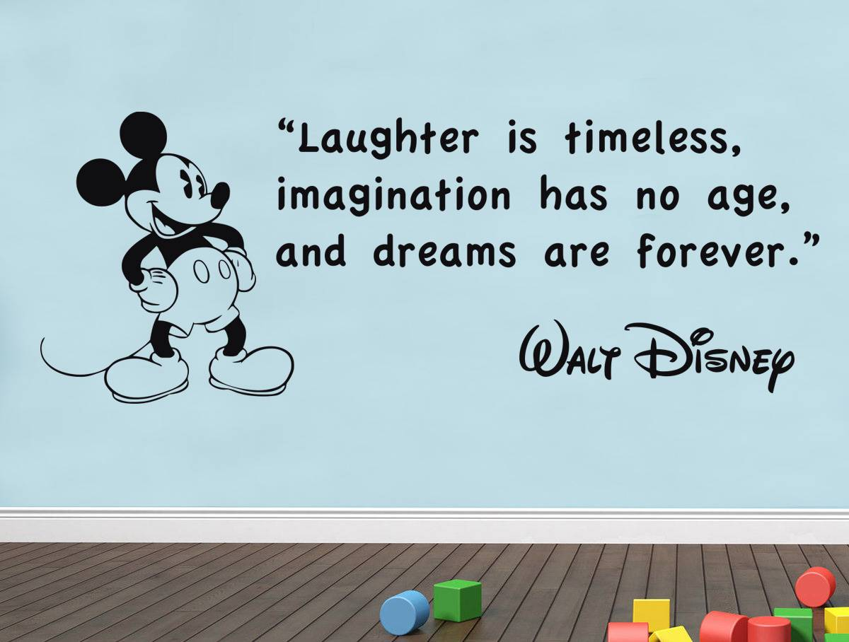 Wall Art Quotes Disney : Walt disney wall art quotes quotesgram