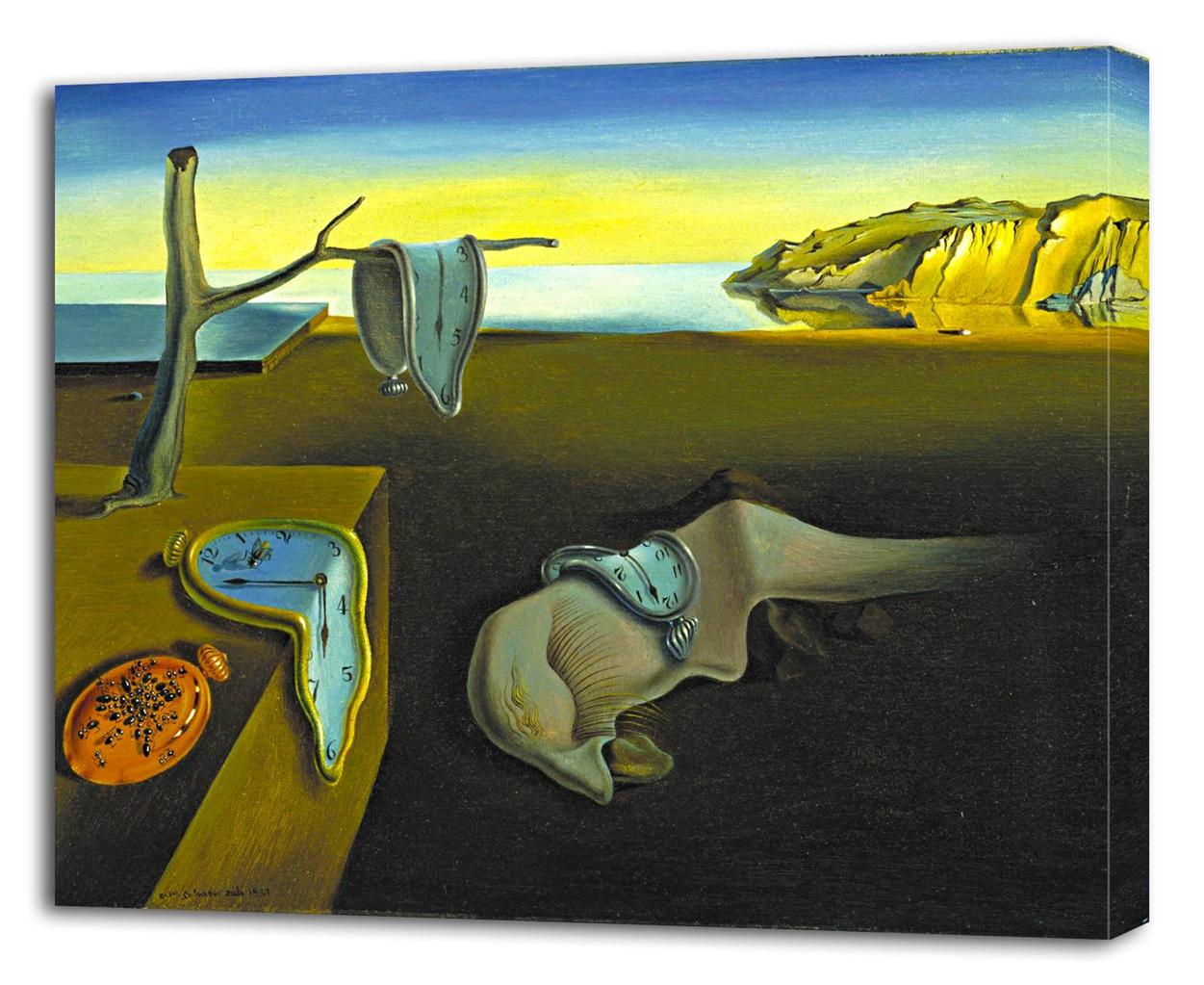 salvador dali the persistence of memory canvas print wall decor  salvador dali the persistence of memory canvas print