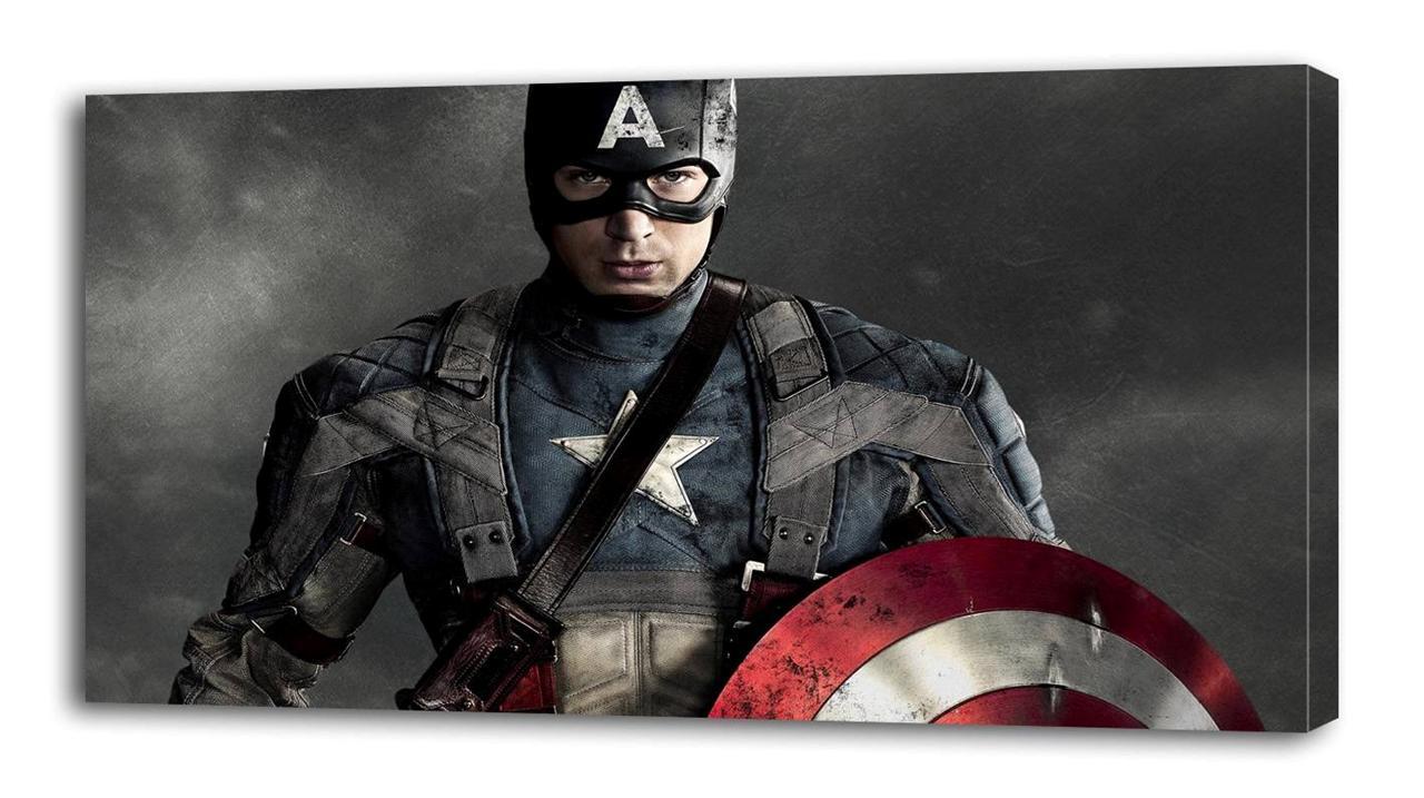 Captain America Movie Canvas Print Home Wall Decor Art