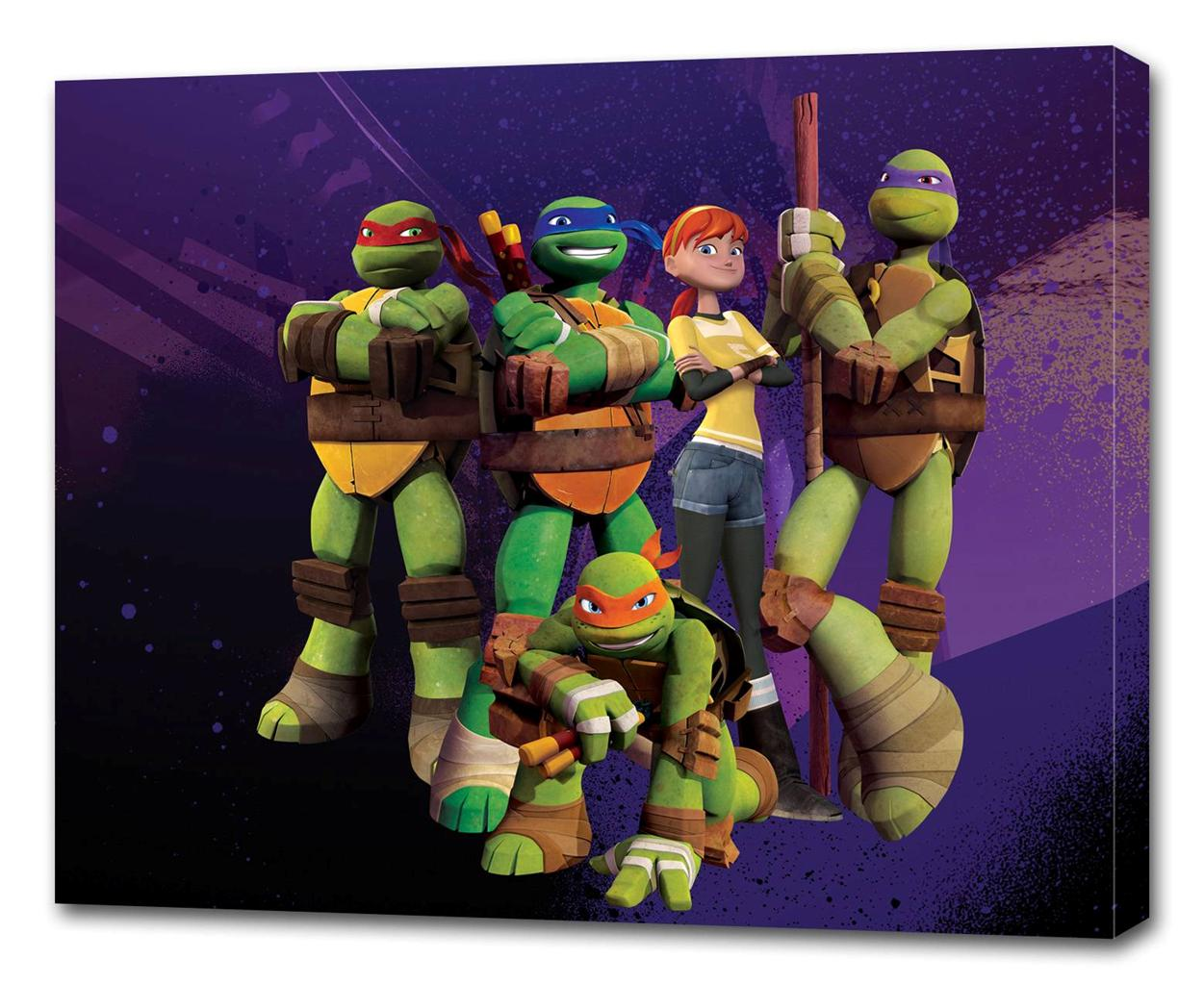Ninja Turtle Wall Decor tmnt ninja turtles canvas print wall decor art giclee kids bedroom