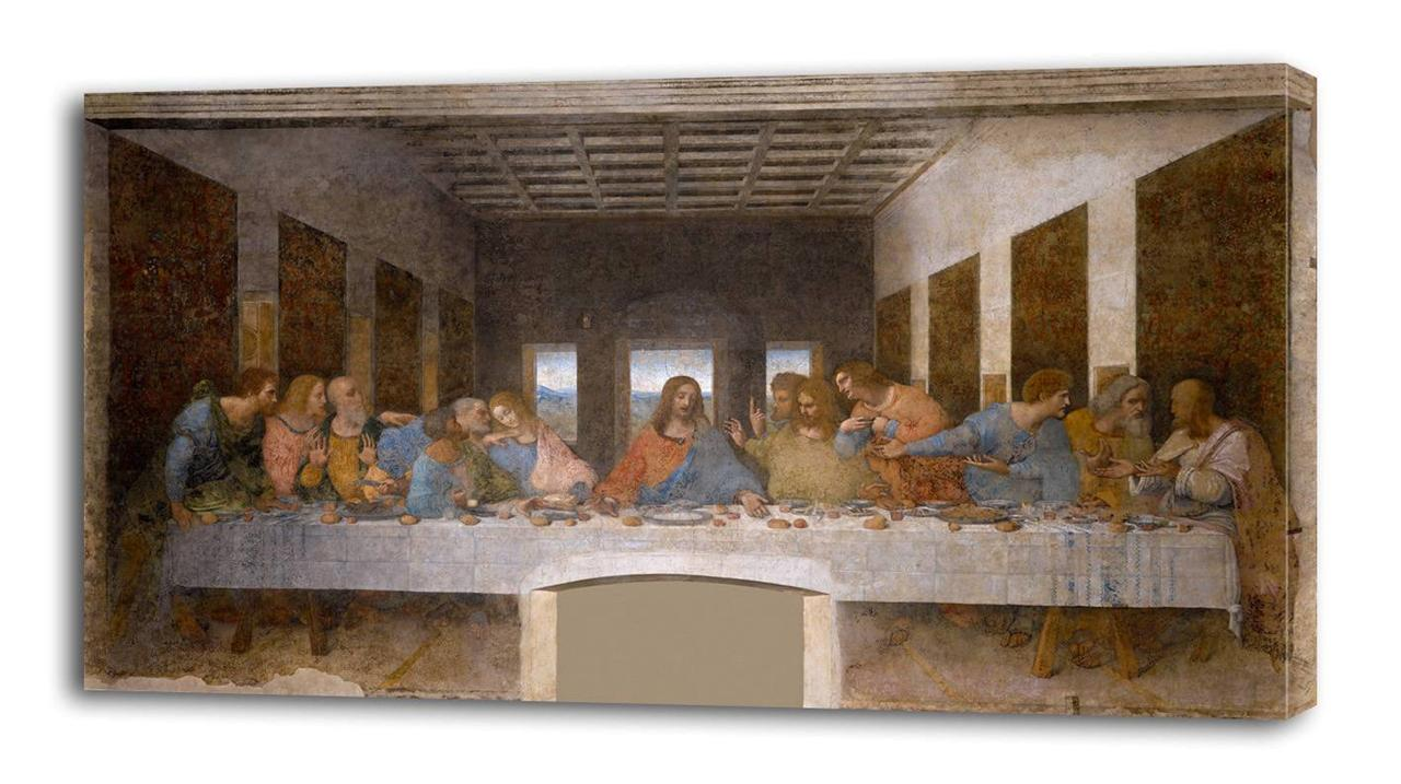 LEONARDO-DA-VINCI-The-Last-Supper-CANVAS-PRINT-Wall-Decor-Art-Painting-Giclee